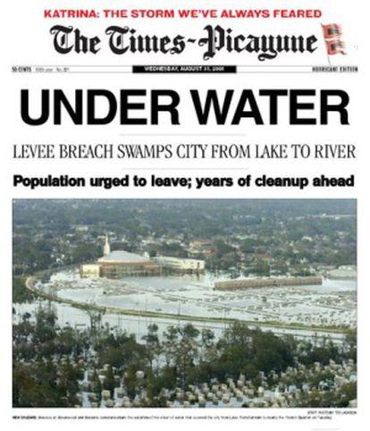 Fragmento de la portada del 31 de agosto.