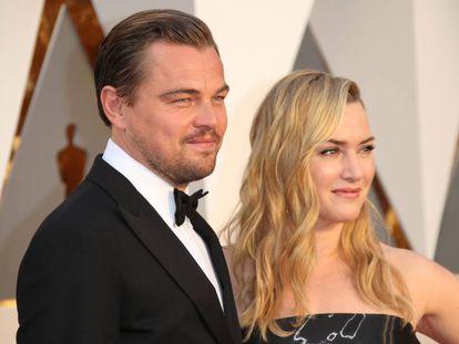 Leonardo DiCaprio y Kate Winslet, en los premios Oscar de 2016.