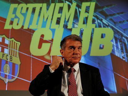 Laporta ya es candidato a la presidencia del Barça.