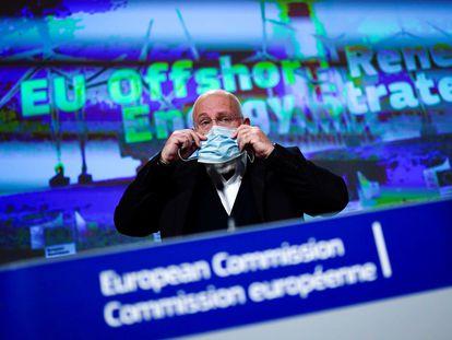 El vicepresidente de la Comisión Europea, Frans Timmermans, en un acto a finales de 2020.