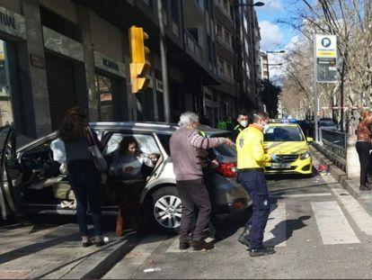 Vehículo que ha atropellado a ocho personas en Reus.