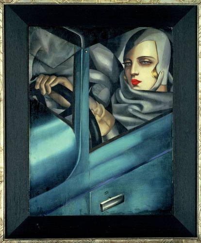 Autorretrato en el Bugatti verde, de 1929, la obra más célebre de Tamara de Lempicka, propiedad de un coleccionista suizo.