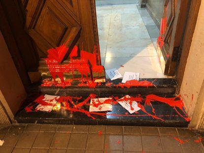 Ataque a la casa de la líder del PSE-EE, Idoia Mendia  PSE-EE 20/05/2020