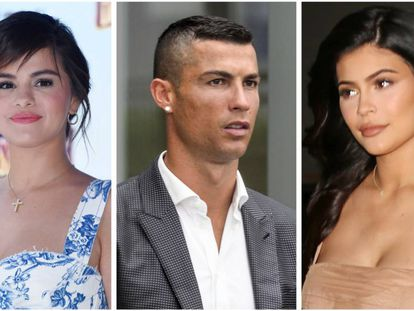 Selena Gómez, Cristiano Ronaldo y Kylie Jenner.