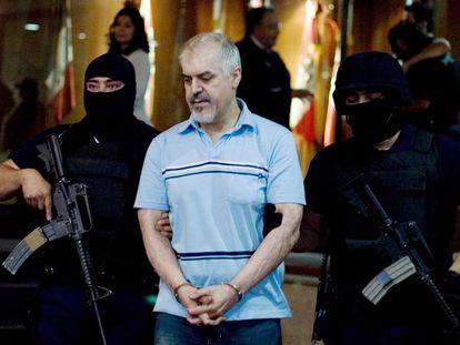 Eduardo Arellano Félix cuando fue detenido en 2008.