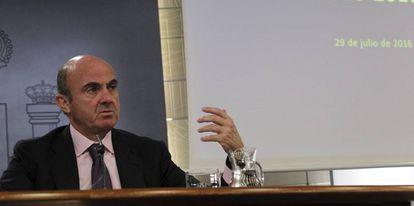 El ministro de Economía y Competitividad en funciones, Luis de Guindos.