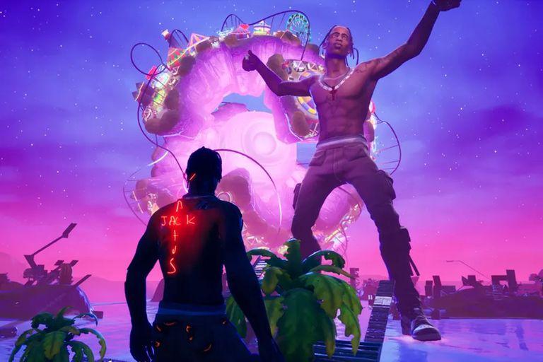 Actuación de Travis Scott en el videojuego 'Fortnite'.