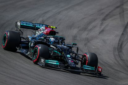 Bottas durante la sesión de clasificación de este sábado.