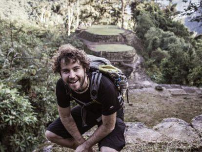 El desaparecido Borja Lázaro, en unos de sus viajes.