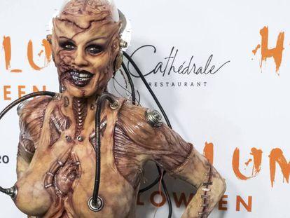Heidi Klum, en su fiesta de Halloween en Nueva York.