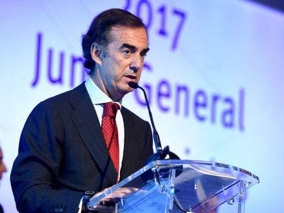 Juan Villar-Mir, presidente de OHL, en la Junta General de Accionistas.