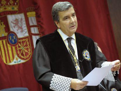 Fotografía de archivo del presidente del Tribunal Superior de Justicia de Navarra, Juan Manuel Fernández.