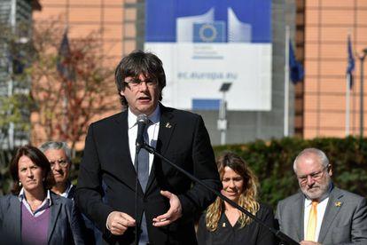 Carles Puigdemont, en Bruselas el pasado día 25.