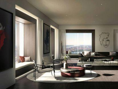 El ático de lujo de los nuevos 'yuppies' de Manhattan por fin parece un hogar