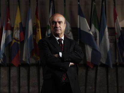 Mariano Jabonero, secretario seneral de la OEI, en la sede en Madrid.
