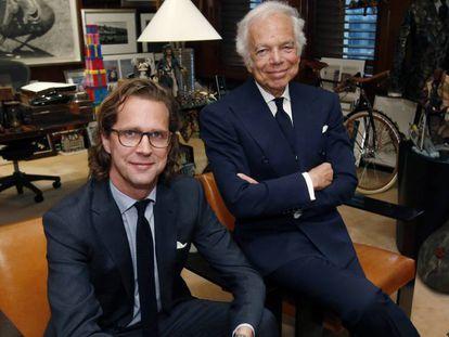 Ralph Lauren, a la derecha, y el consejero delegado de la marca Stefan Larsson.