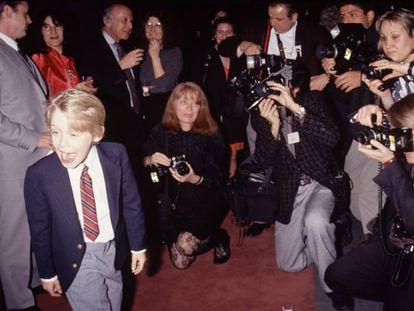 Macaulay Culkin, con 10 años, en un evento celebrado en 1990, año en que rodó 'Solo en casa'. La película se convirtió en la tercera más taquillera hasta aquel momento (tras 'E. T.' y 'La guerra de las galaxias').