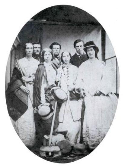 Jemima Morrel y sus compañeros de viaje en 1863.