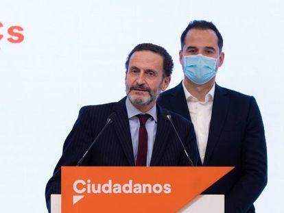 Edmundo Bal (en primer término) e Ignacio Aguado, este jueves en la sede del partido en Madrid.