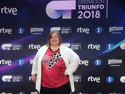 Itziar Castro en la presentación de 'Operación Triunfo 2018'.