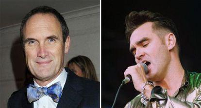 A. A. Gill,(izquierda), premio al mejor 'hatchet job' de2013 por su ácida disección de 'Autobiography', de Morrissey (derecha).