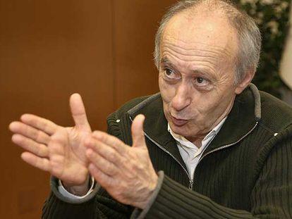 Paco Rodríguez, en la sede nacional del BNG en Santiago, donde transcurrió la entrevista.