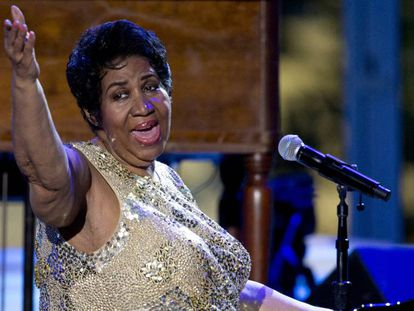 La cantante Aretha Franklin en el International Jazz Day Concert, el pasado abril.