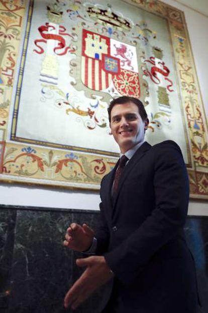Rivera, en el Congreso.
