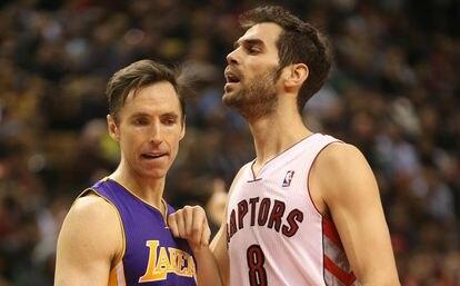 Calderón y Nash, en un Lakers-Raptors.