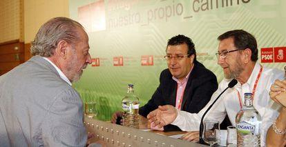 Fernando Rodríguez Villalobos y Manuel Gracia en el congreso de Sevilla.