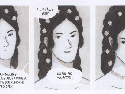 Tres viñetas del álbum 'Sisi, emperatriz rebelde'