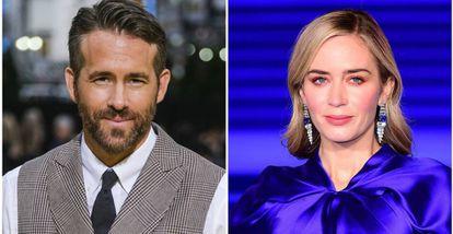 Los actores Ryan Reynolds y Emily Blunt.