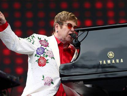 Elton John, en un concierto en Londres en 2017.