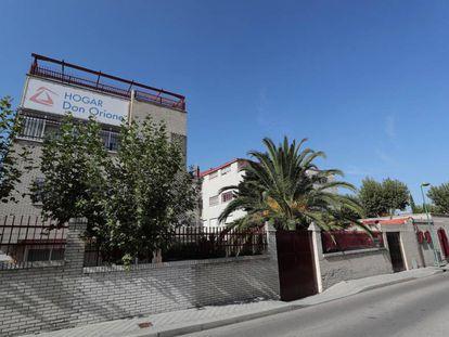 Exterior del centro residencial Hogar Don Orione, en Pozuelo de Alarcón, Madrid.