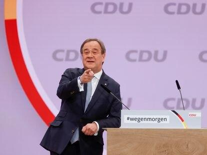 Armin Laschet, durante el congreso de la CDU este sábado.