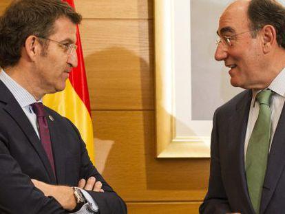Alberto Núñez Feijóo e Ignacio Sánchez Galán