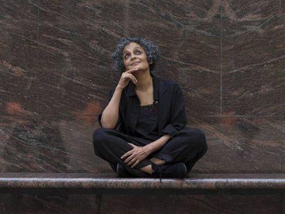 Arundhati Roy, ayer en el CCCB.