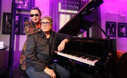 Martirio y Chano Dominguez, el martes pasado en el Hotel AC Recoletos.