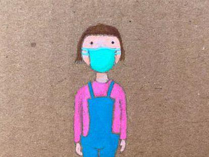 El cuento, escrito por Ángeles González-Sinde en el confinamiento, está pensado para que los padres expliquen a sus hijos que no son los únicos que tienen que vérselas con este método de protección