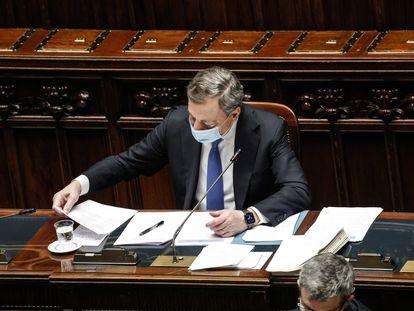 El primer ministro italiano, Mario Draghi, este miércoles.