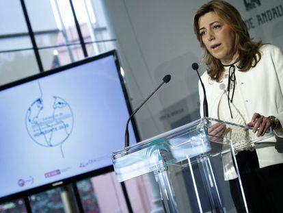 Susana Díaz, en la presentación este viernes del plan de internacionalización.