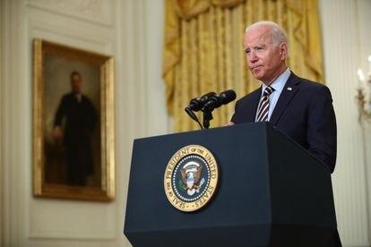 Joe Biden, durante la rueda de prensa en la Casa Blanca este jueves.
