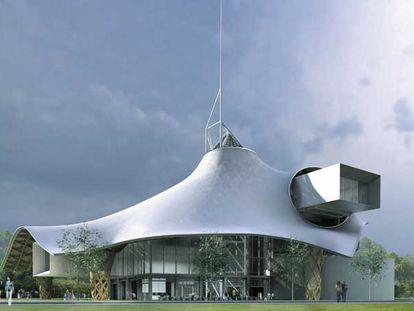 Maqueta del edificio que el Pompidou construirá en Metz