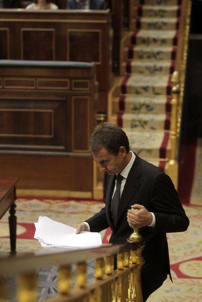 Zapatero, en el último pleno del estado de la nación.