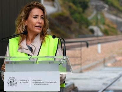 La ministra de Transportes, Movilidad y Agenda Urbana, Raquel Sánchez, este lunes.