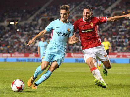 Un momento del partido entre el Barcelona y el Murcia este año.