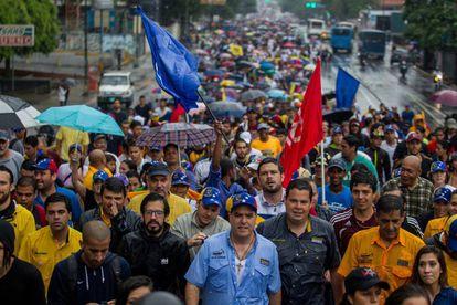 Protesta en Caracas contra Maduro.