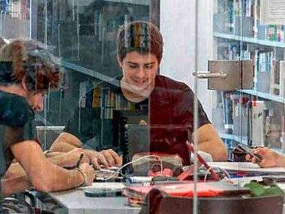 Estudiantes de la Universidad Pompeu Fabra.