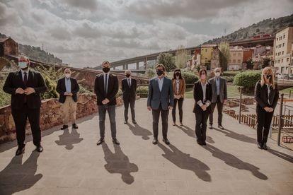 Los alcaldes de la Asociación ARC Metropolità, que congrega nueve ciudades de la segunda corona de Barcelona.