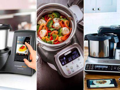 Comparamos tres robots de cocina de las marcas Moulinex, Taurus y Kenwood.